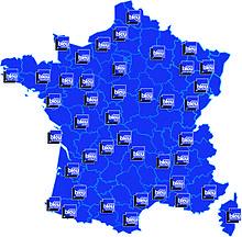 carte de france orange bleue